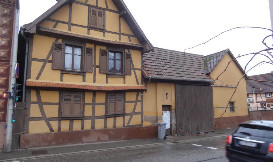 Sauvetage d'une maison à colombages attenante à la boulangerie Bernhard à Mommenheim